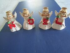 1958 HOLT HOWARD 4 Noel CHRISTMAS ANGEL FIGURINES CANDLE HOLDERS Mint Condition