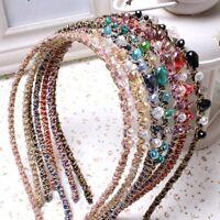 Women's Glitter Crystal Rhinestone Headband Wedding Prom Party HairBand Headwear