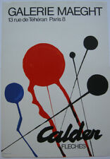 Alexander Calder (1898-1976) Fleches Galerie Maeght Orig Plakat Lithografie 1968