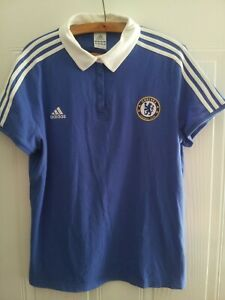 Chelsea FC Football Polo Shirt 2008 Original Adidas Soccer Top Blue Mens Size XL