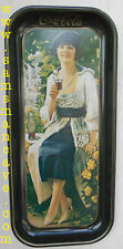 Coca Cola Lady 1921 Advertisement Tray