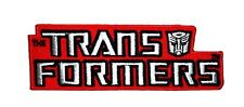 "Transformers Logo Iron-On Patch 4 1/2"" x 1 1/2"" Free Ship Licensed PCH-TFP0144"