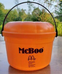 1986 Vintage McDonalds McBoo Pumpkin Bucket Halloween Trick-or-Treat