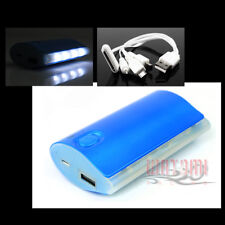 5200MAH EXTERNAL BACKUP BATTERY CHARGER MICRO USB BLUE IPHONE 5 4S 4 IPOD IPAD