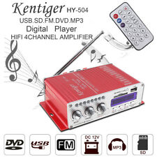 HY-504 Audio USB DVD SD MP3 Player 4-CH Car Stereo Power Amplifier FM Hi-Fi Amp