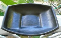 "Vintage Black McCoy USA  Pottery Boat Shaped Flower Planter Pot 8"" x 6"" x 2"""