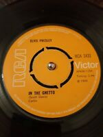 "Elvis Presley ‎– In The Ghetto Vinyl 7"" Single RCA 1831 1969"