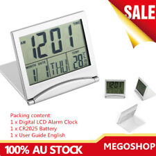 Home Use Digital LCD Screen Travel Alarm Clock Desk Timer Clock Calender AU