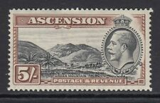 Ascension 1934 5/- Black and Brown KGV - SG 30 - MOUNTED MINT
