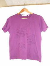 EWM pure classics purple embroidered t shirt size 14/16