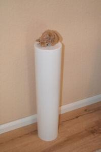 Dekosäule rund D200mm H90cm weiß matt lackiert Podest Sockel Alexa echo Säule
