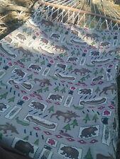 Cloth panel shower curtain moose bear pine trees canoe ducks cabin lodge style