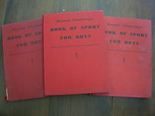 JOB LOT OF THREE BOOK OF SPORT FOR BOYS 1951 1952 1953