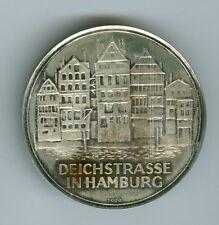 Silver Rainbow Toning Deichstrasse in Hamburg, Hamburgensis Monetanova Medal