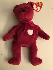 Ty beanie babies VALENTINA bear 1999 with tags - Never Used