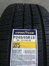 2454518 245/45R18 Goodyear Eagle RSA Blk 96V New Tire - Qty 2