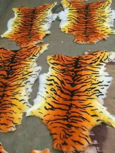 Luxury Tiger Leopard Skin Rug Blanket Genuine Australian Sheepskin Rug Carpet US