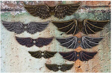 Angel Wing Charms Pendants Assorted Antiqued Silver Bronze Copper 8 pieces