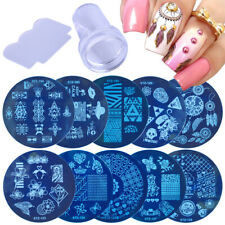Set  Sponge DIY Stamper Scraper Round Nail Art Template Dream net Image Plate