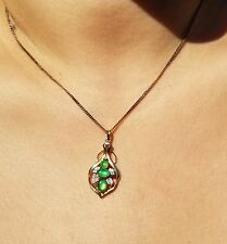 14K Italian Gold chain w/ High Quality Jade, Diamond, and 14K Gold Pendant