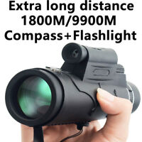 12x50 Night Vision Monocular+Compass Flashlight+Red Laser 1800M/9900M Hunting