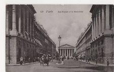 France, Paris, Rue Royale et la Madelaine Postcard, B251