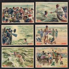 Swimming The English Channel Erdal Rare Card Set 1928 Sport Webb Carson Sullivan