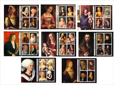 2011 ALBRECHT DURER PAINITNGS ART 8 SOUVENIR SHEETS MNH UNPERFORATED