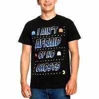 Mens Pac-Man Aint Afraid of No Ghosts T-Shirt - Unisex Retro Gamers Tee
