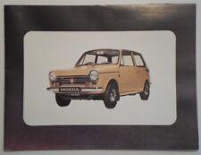 Honda N600 Touring & Automático Orig 1970 Reino Unido Mkt folleto de ventas-Hondamatic