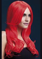 Donna Lunga Neon Parrucca Rossa FEBBRE Khloe