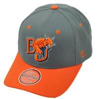 NCAA Zephyr Baker Wildcats BU Gray Orange Hat Cap Curved Bill Adjustable Sport