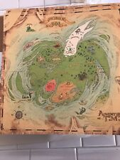 """ADVENTURE TIME - 15""""x15"""" Land of OOO Poster SDCC 2012 MINT Treasure Map"""