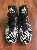 ADIDAS Mens Football-Soccer Cleats Black & White Size US12 CLU 600001