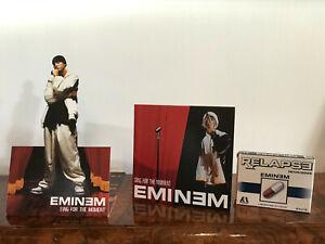 EMINEM CD promo, hors commerce + plaquette silhouette + boite de bonbons, rare.
