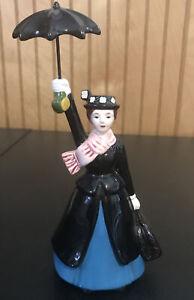 Vintage Walt Disney Mary Poppins ceramic Figurine with Umbrella Porcelain Figure