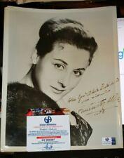 Original Autographed Photograph Opera Star  Antonietta Stella with COA