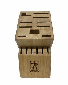 JA Henckels International Knife Block 16 Slot Wooden Knife Holder Zwilling Oak