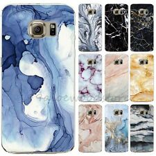 Marble Pattern Thin Soft TPU Case Cover For Samsung Galaxy S5 S7 S6 Edge Plus