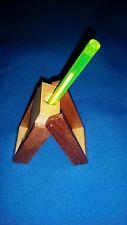 100 x Wooden Folding Ink Pen/ECig Holder Desk Office Gift NIB