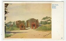 OLD GATE, PAGAN: Burma postcard by F M Muriel (C27247)