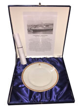 Raro piatto Transatlantico Andrea Doria Italia Società di Navigazione certificat