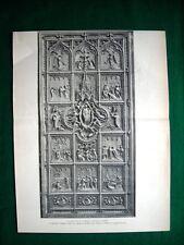 Duomo di Milano 1895, progetti premiati + dettaglio progetto Muzio e Sozzi #1