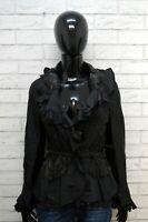 ERMANNO SCERVINO Giacca Alta Moda Camicia Inserti in Pelle Women's High Fashion