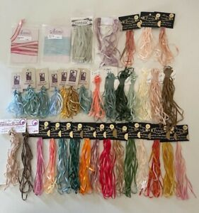36 packs (127 Yards) Petals, Silken, Hand Dyed Silk ribbon 2,3,4 yd Embroidery
