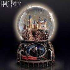 Harry Potter Hogwarts Illuminated Musical Snow Globe NIB Hedwigs Theme Christmas