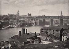 NEWCASTLE-ON-TYNE. from the Rabbit Banks. High Level bridge. Northumberland 1900