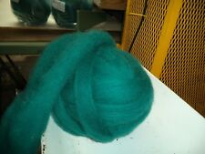 Teal - Hand-dyed Texel Wool Roving for Felt, Spin, Knit Crafts! - 8 oz bags