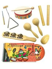 Voggy's Percussion Set GB Learn to Play Present Gift MUSIC BOOK TRIANGLE SHAKER