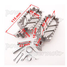 Pit Dirt Bike Foot Pegs Rest For Yamaha PW50 PW80 TW200 Motor XR50 XR70 Silver